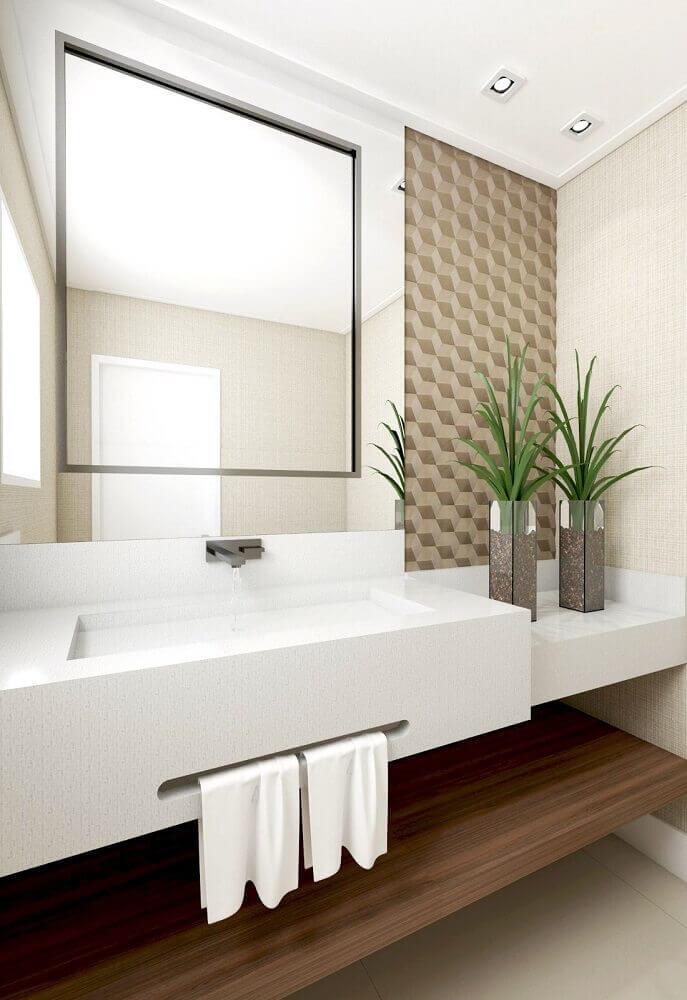 decoração de lavabo com plantas