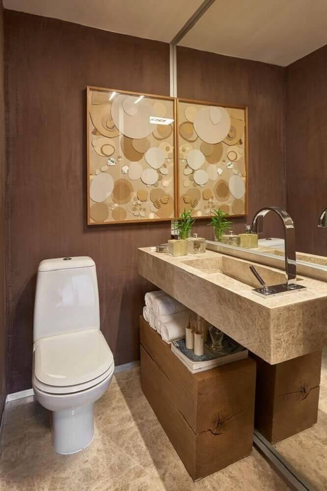 Decoração de lavabo pequeno