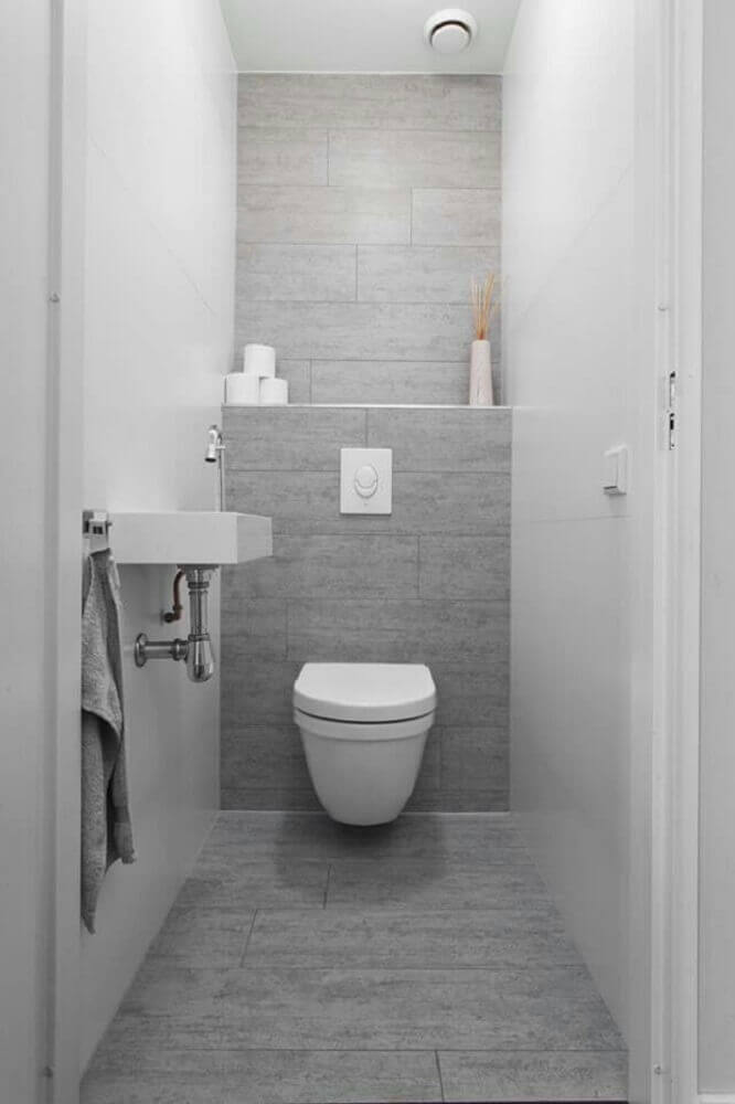 decoração de lavabo simples e pequeno