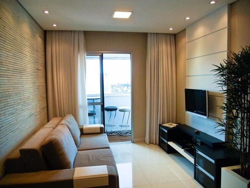 decoração de sala com pedra canjiquinha