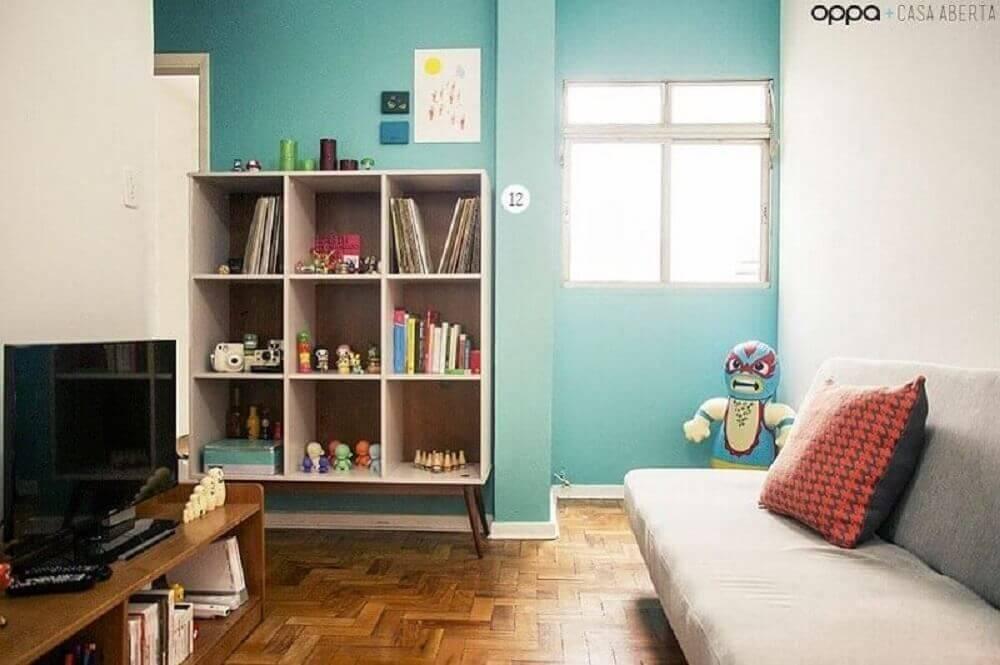 Decoração de sala simples e pequena