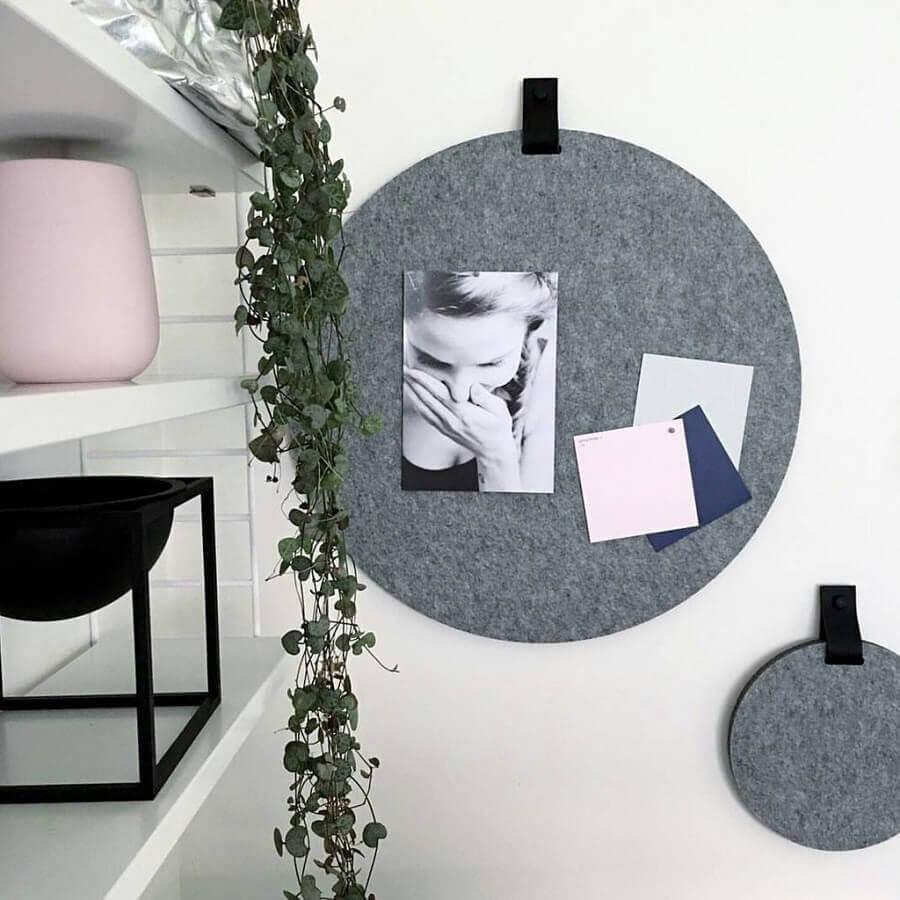 decoração moderna com artesanato em feltro