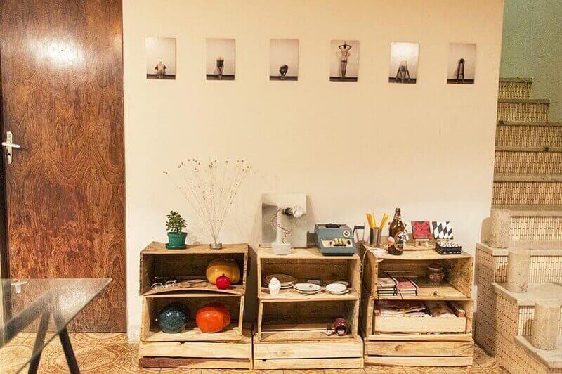 decoração rústica com pallets
