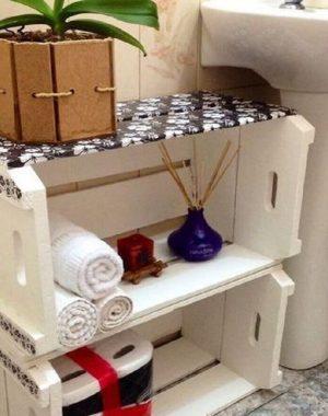 decoração simples e barata com caixotes