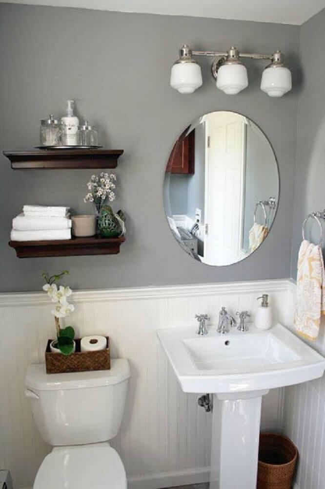 decoração simples e linda para banheiro