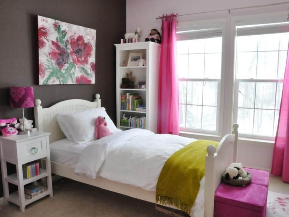 Decoração simples para quarto de menina