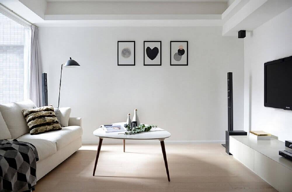 decoração simples para sala minimalista