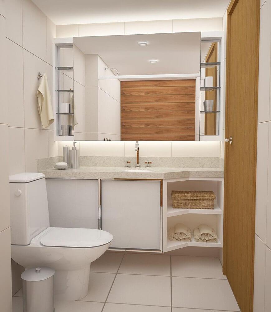 Decoração simples para banheiro
