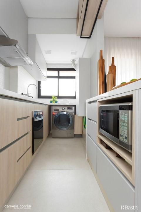 Área de serviço integrada à cozinha Danyela Correa