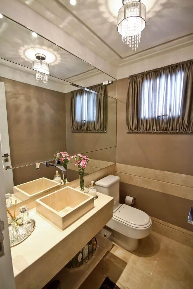 decoração de lavabo sofisticado.