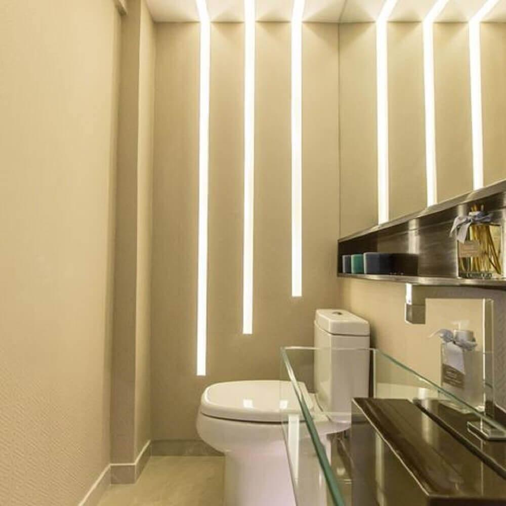 iluminação para lavabos pequenos decorados.
