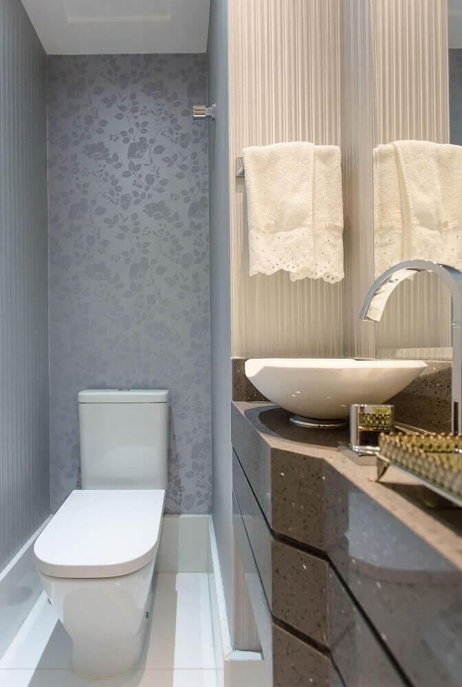 papel de parede para a decoração de lavabos pequenos e baratos