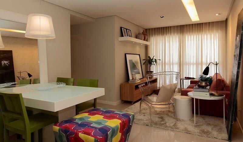 Decoração de casas com móveis de acrílico
