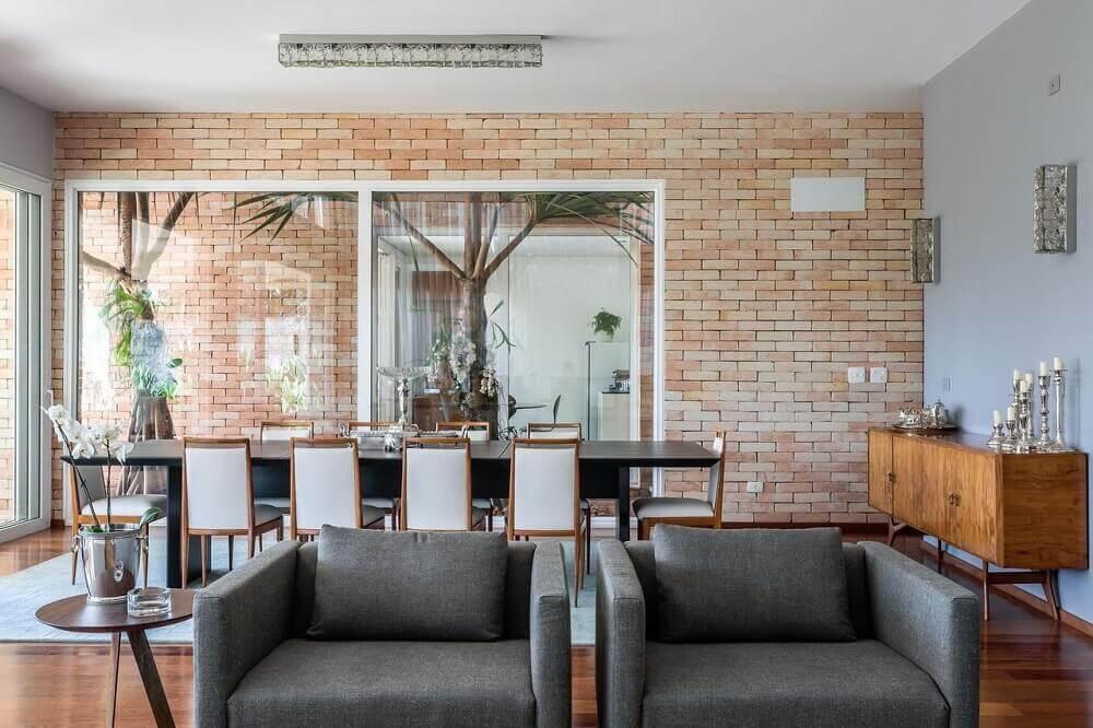 Papel de parede tijolinho para sala
