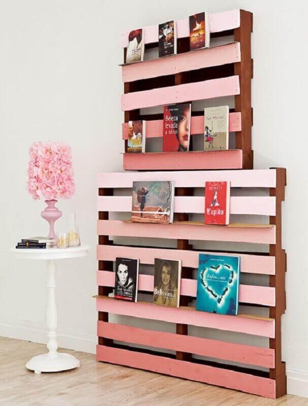 estante de pallet para livros