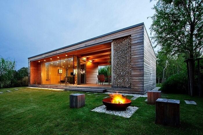 fachada casa de fazenda moderna