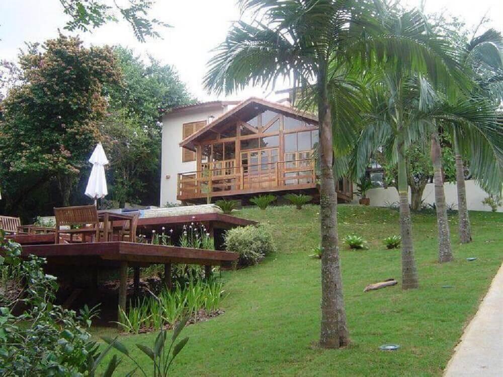 fachada de madeira para casa de fazenda