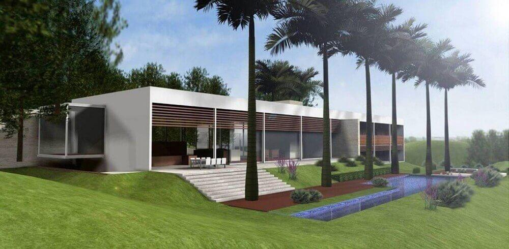 Casa de fazenda moderna com piscina