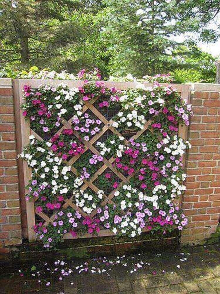 flores pequenas para jardim vertical