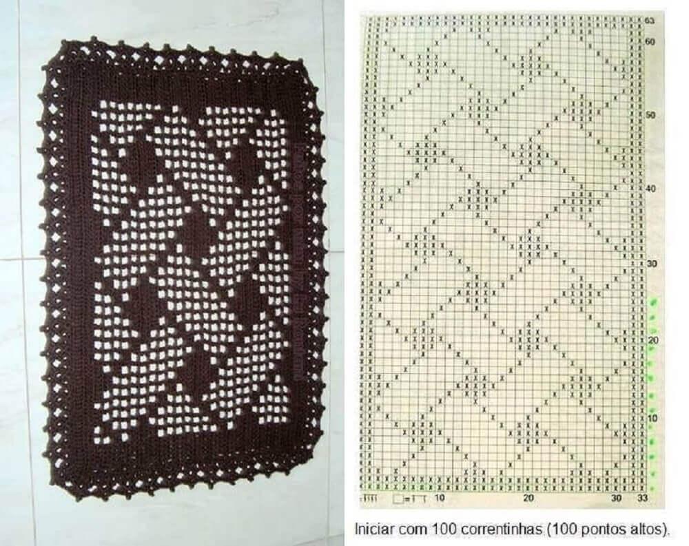 gráfico para tapete de crochê