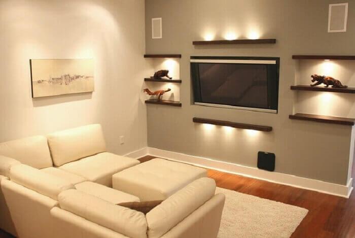 iluminação em casas decoradas