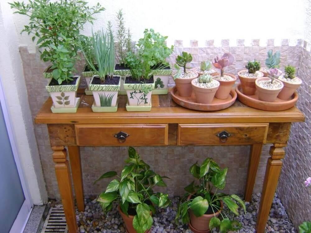 Modelo de jardim pequeno