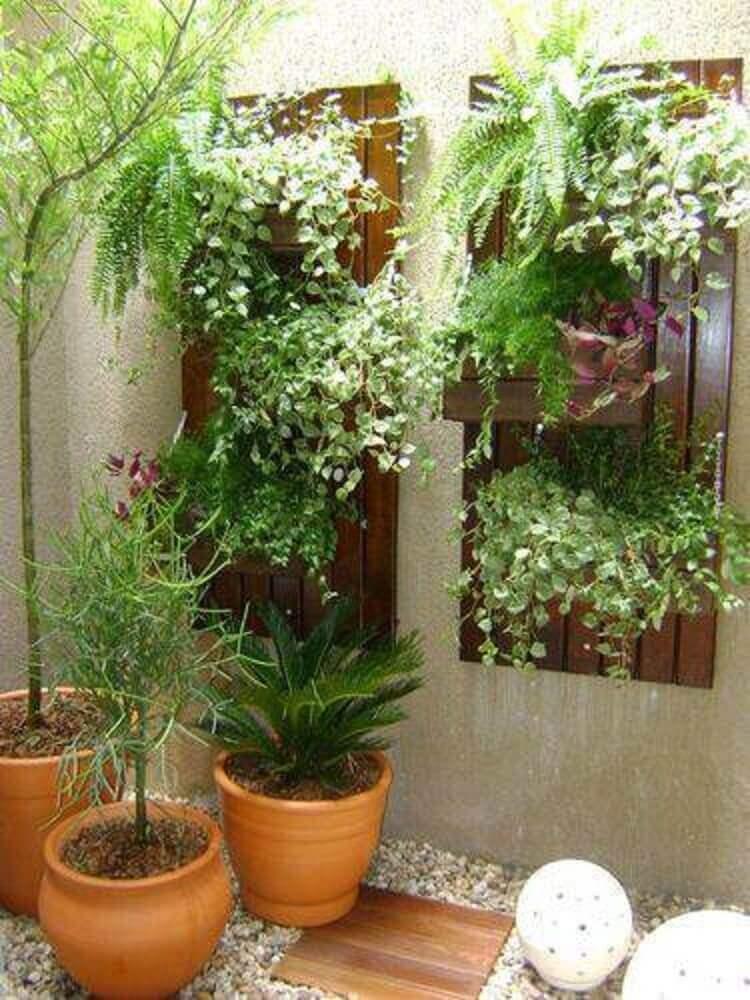 jardim de inverno com jardim vertical
