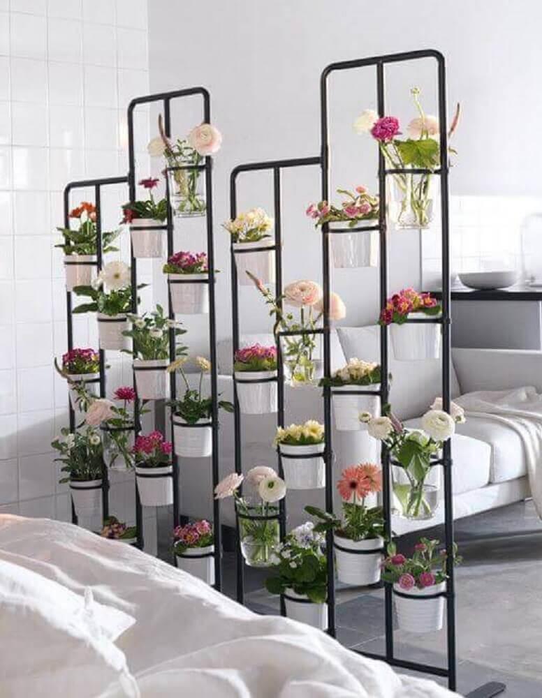 Modelo de jardim suspenso com armação