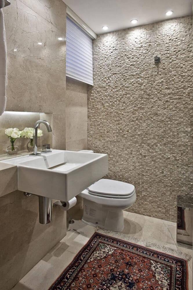 lavabo pequeno com decoração clean