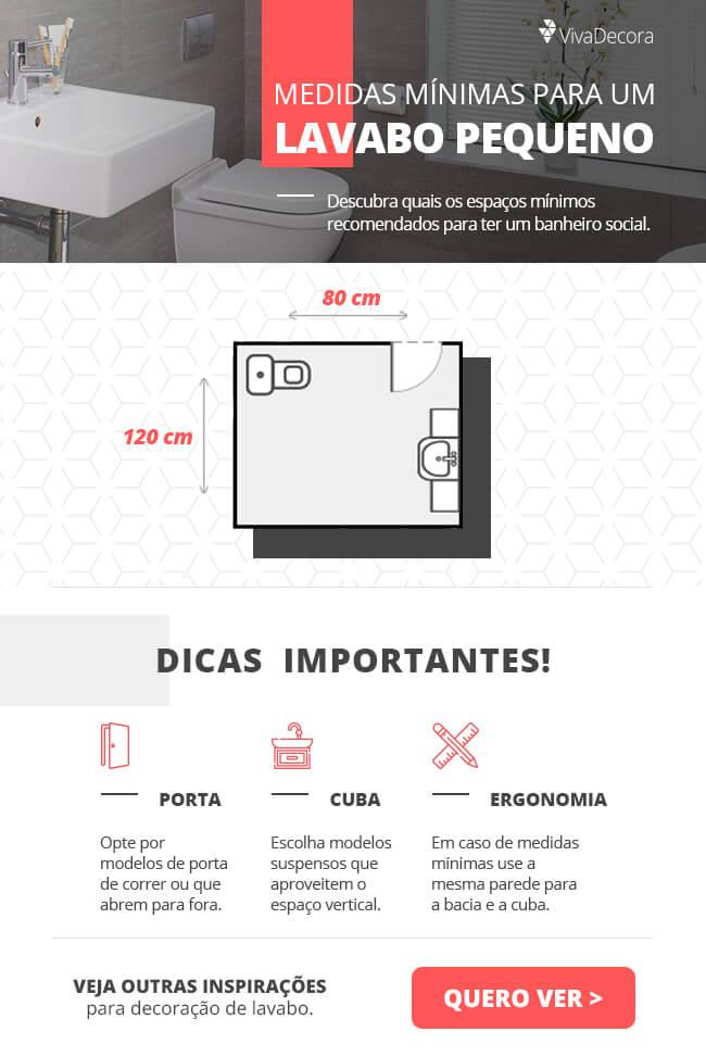 Infográfico - Lavabo Pequeno