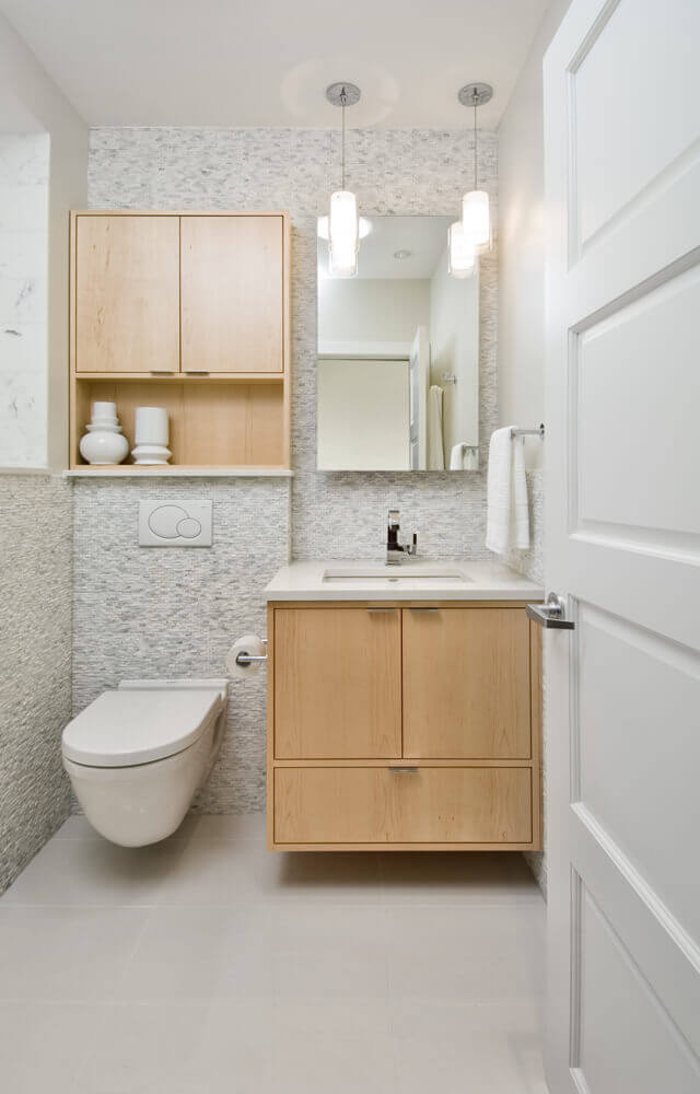 móveis de madeira para lavabo pequeno
