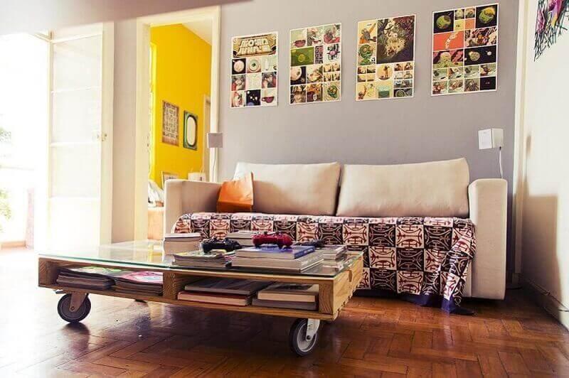 móveis de pallets com rodinhas