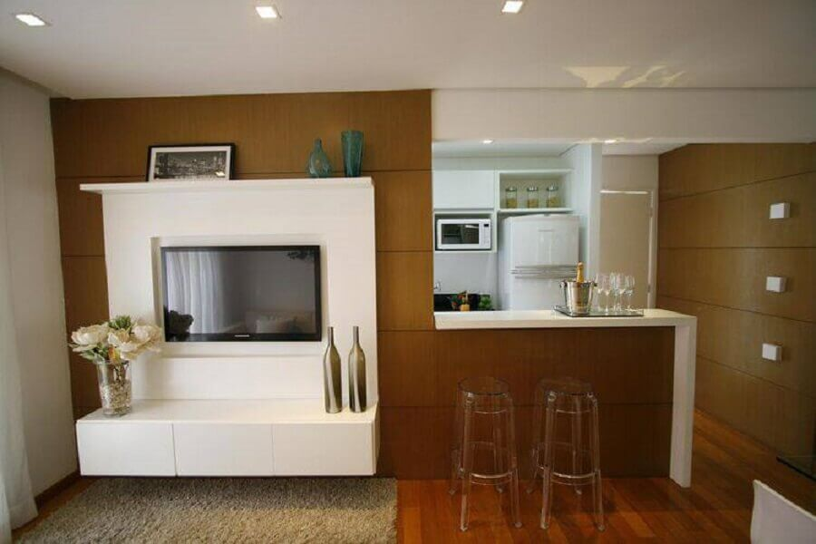 móveis transparentes para apartamento pequeno