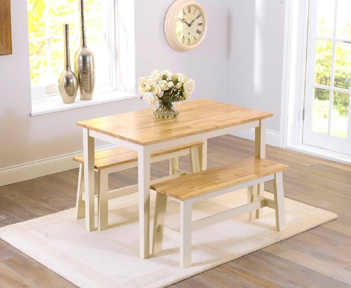 Mesa de jantar pequena 35 modelos para inspirar e decorar - Mesas pequenas ...
