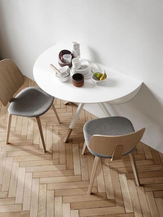 Mesa dobrável para sala de jantar pequena