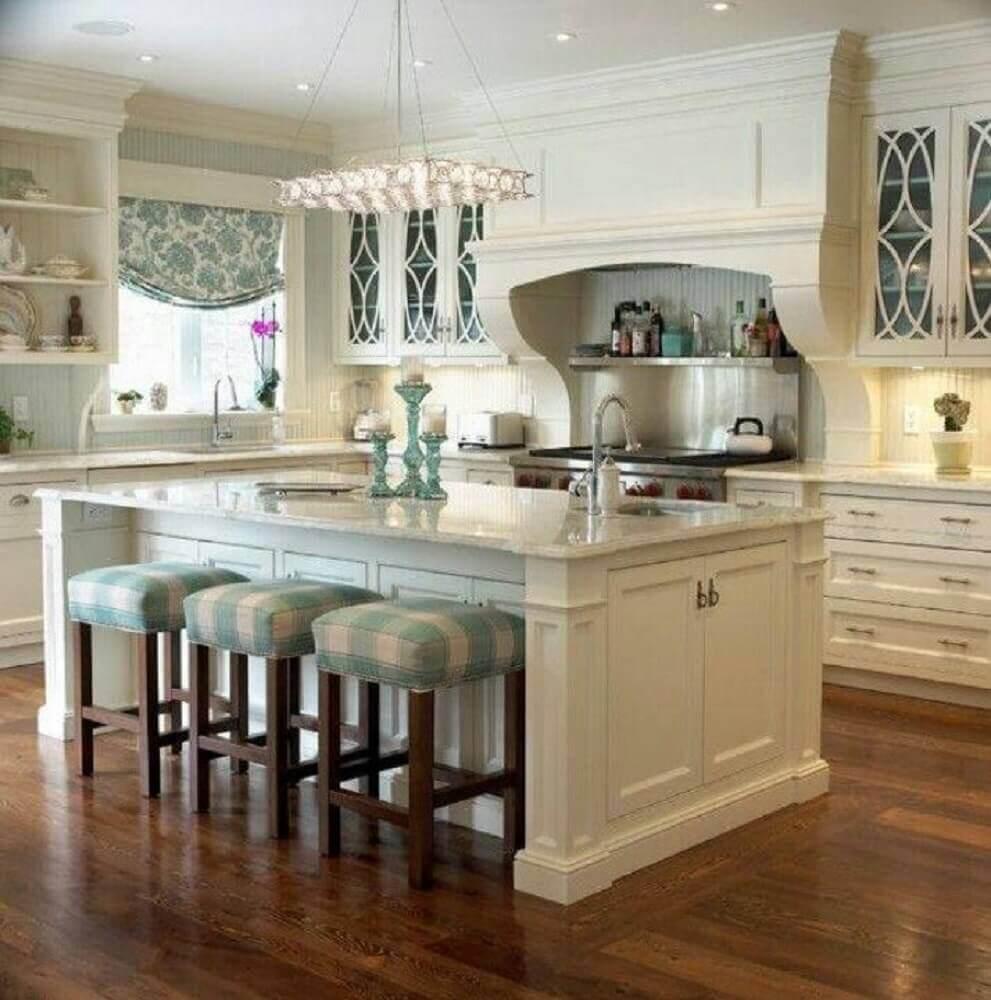 modelo cozinha com ilha estilo americana