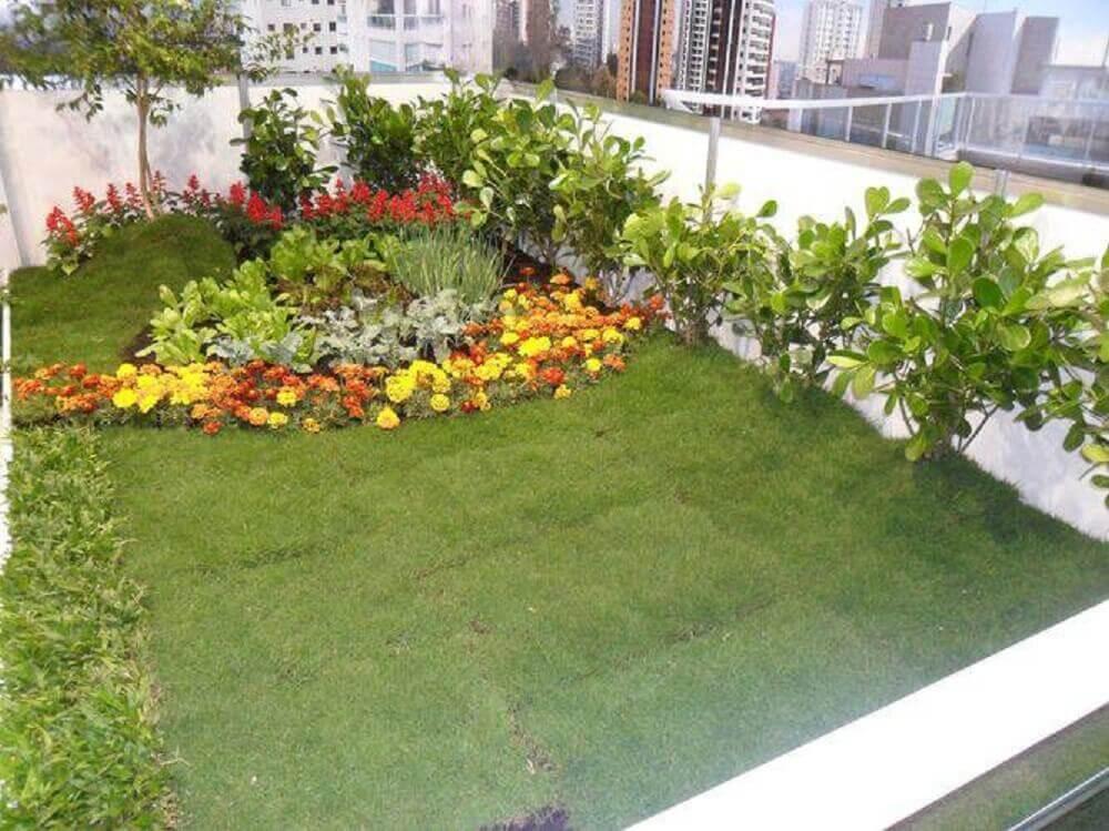 Modelo de jardim florido