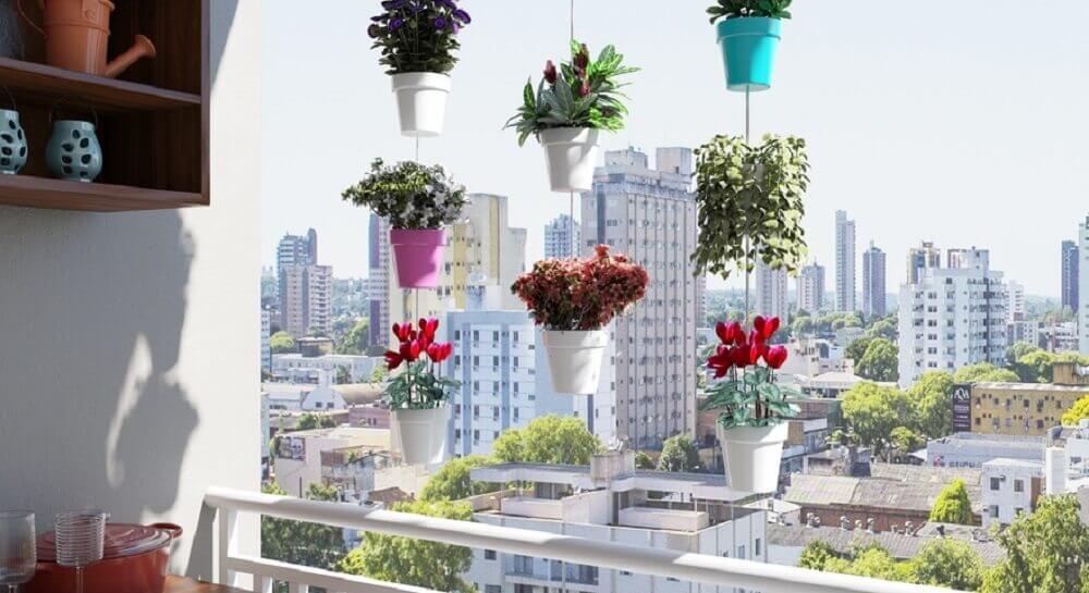 modelo de jardim suspenso para varanda