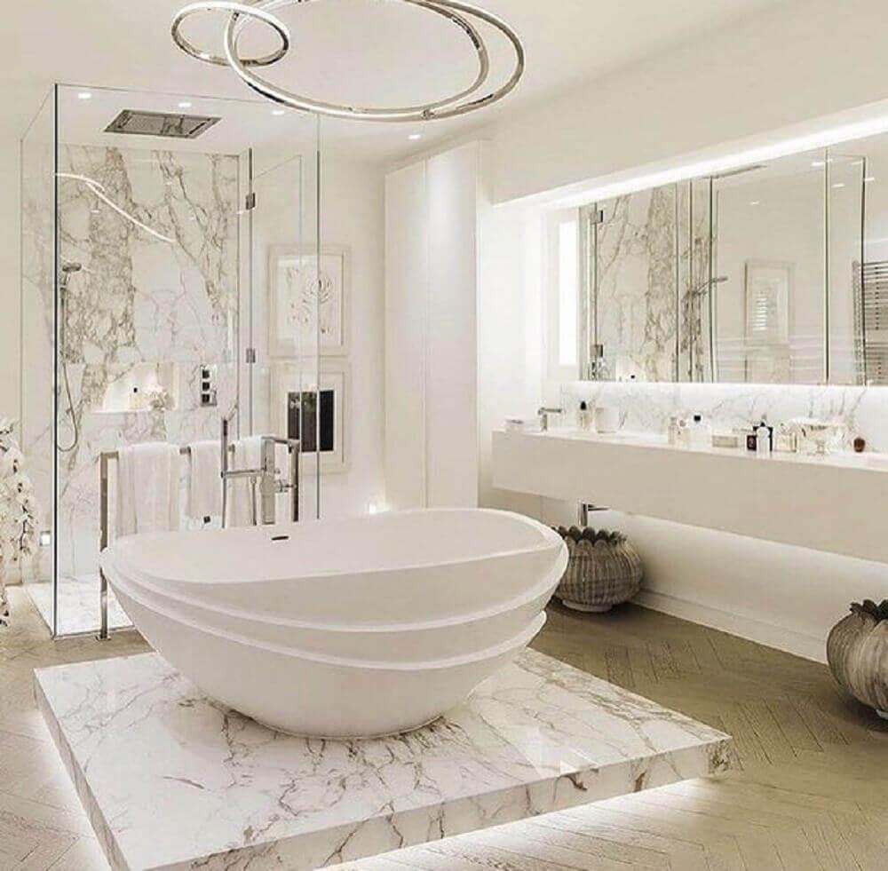 modelos de banheiro com banheira sofisticado