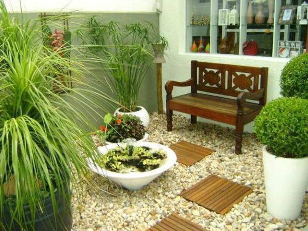modelos de jardim de inverno com banco