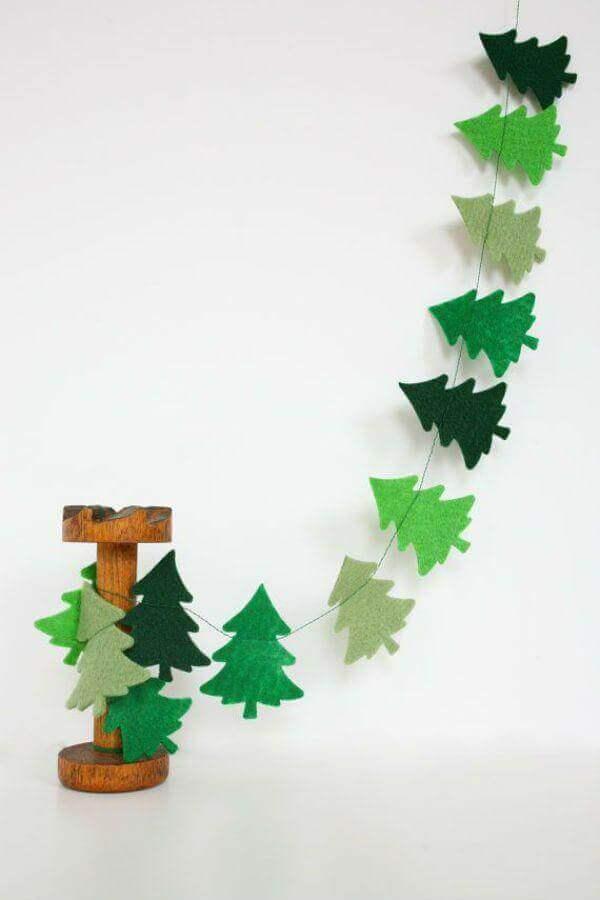 natal decorado com artesanato de feltro