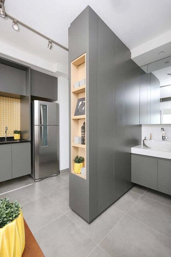 nicho embutido para apartamento pequeno