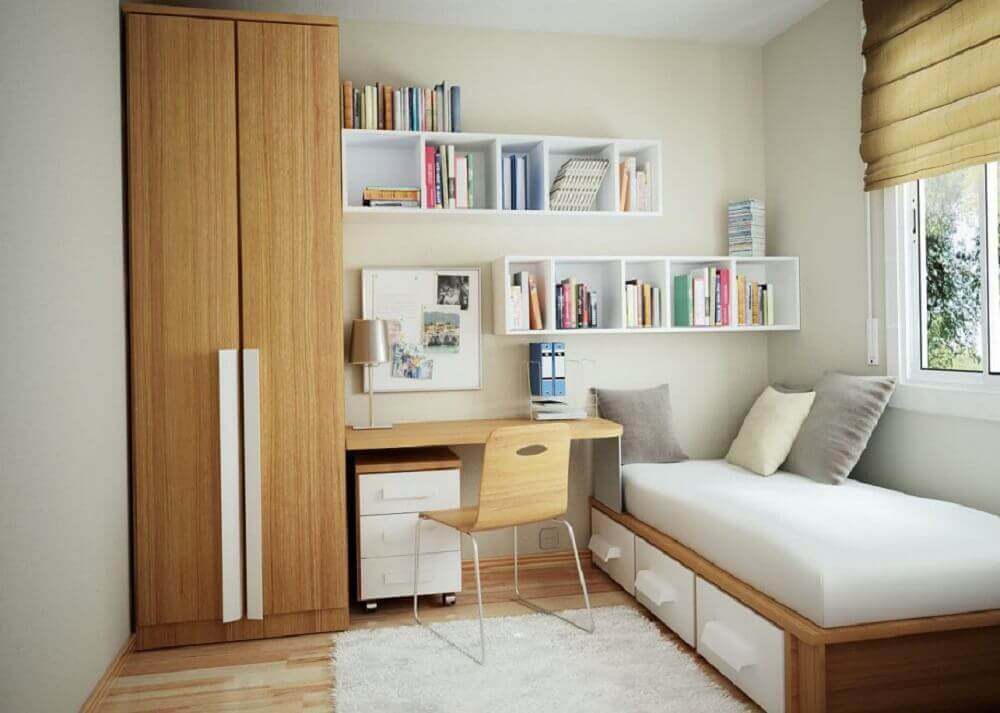 Nichos para decoração de quarto simples