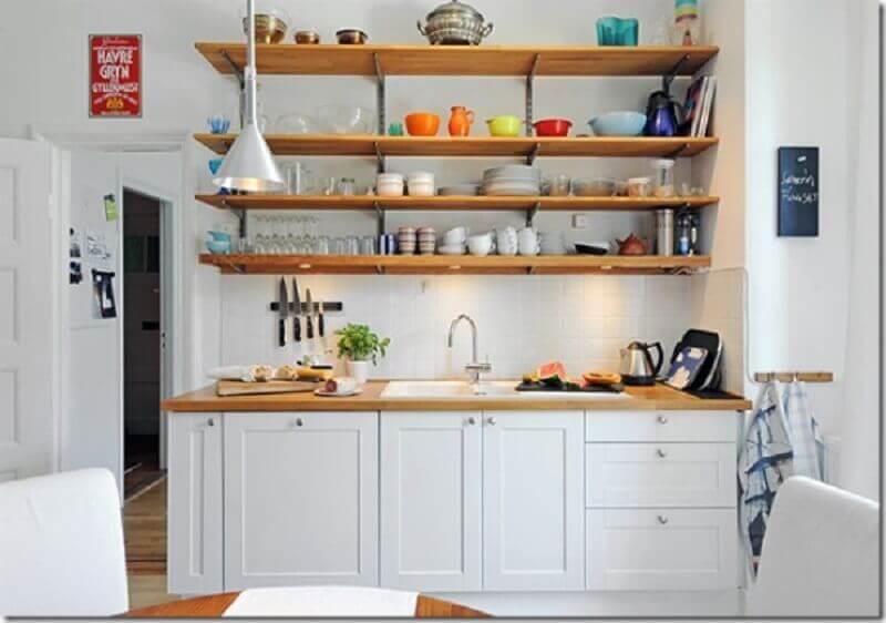 prateleiras para decoração de cozinha pequena