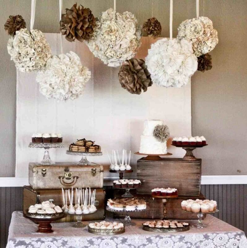 rustic simple wedding table decoration
