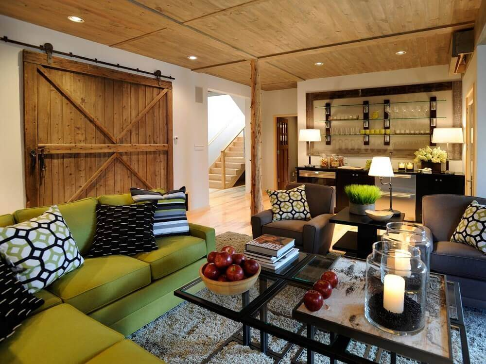 sala de estar de fazenda