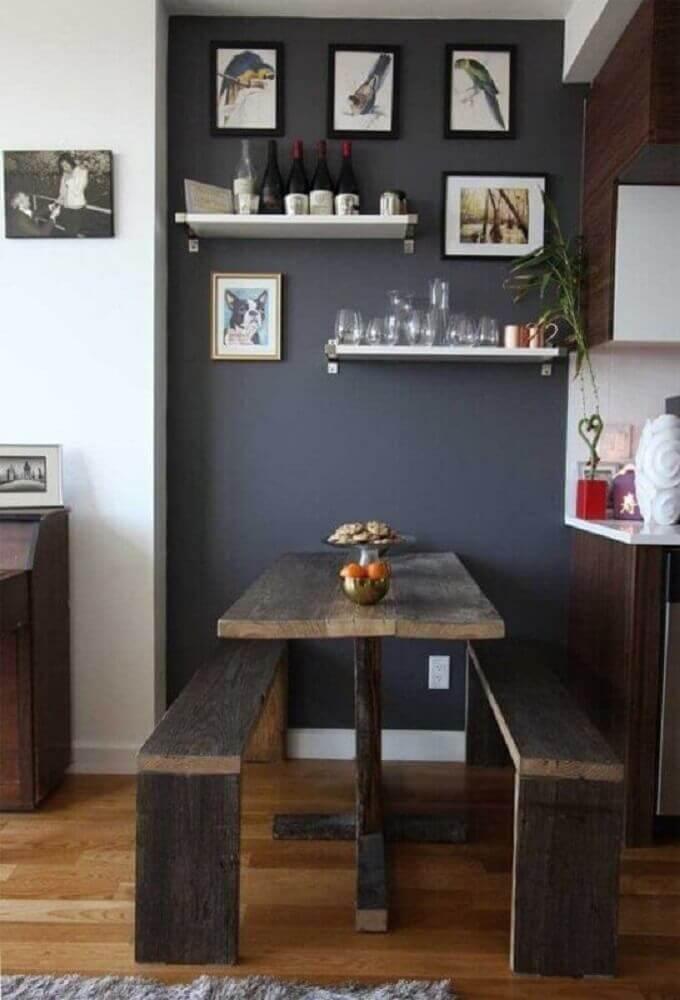 Decoração com mesa para sala pequena