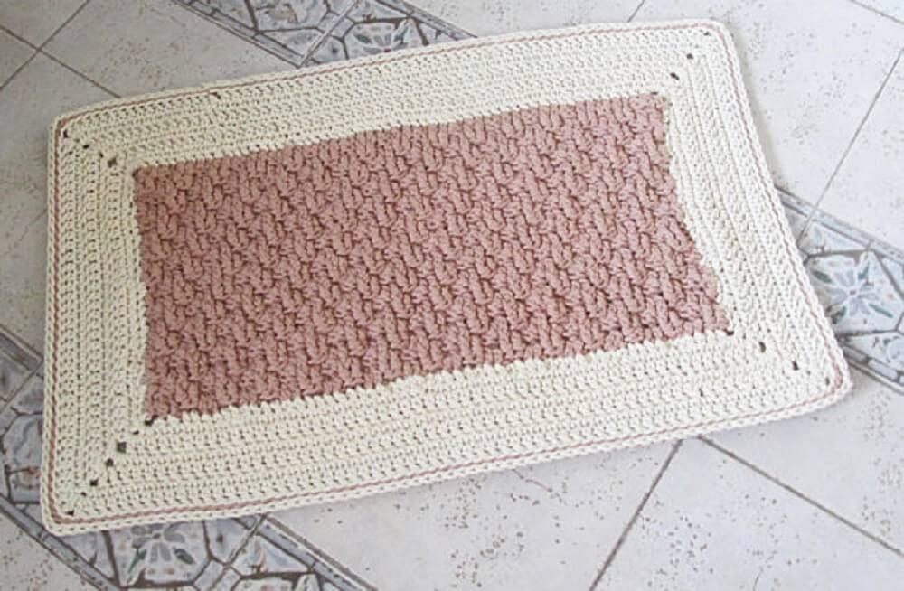 tapetes de crochê quadrados