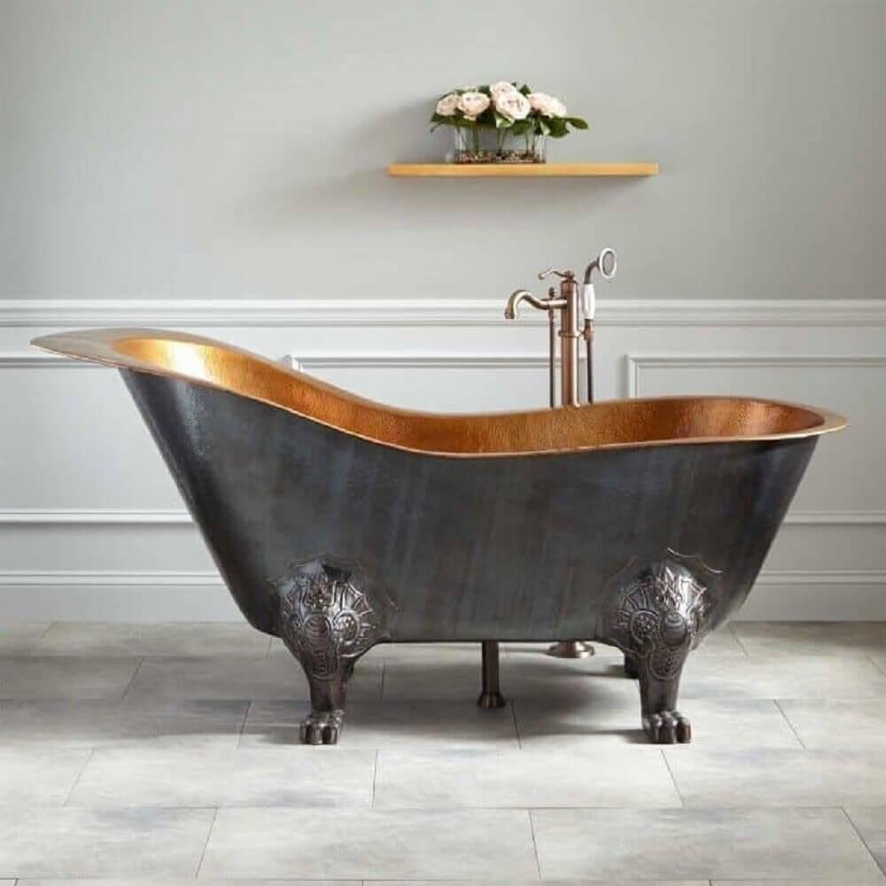 tipos de banheira vitoriana de metal
