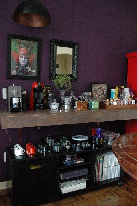 Área do café da decoração afetiva Murilo Grilo